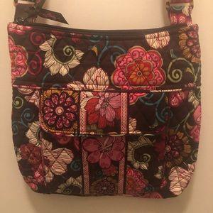 Vera Bradley Mod Floral Pink Hipster Crossbody Bag